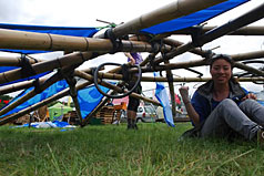 Thai under bamboo Jack's reciprocal roof
